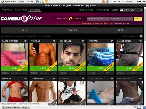 CameraPrive Gay Webcams Trial Memberships